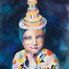 SERIES MASKS. INDIGO MASK. 2009. Canvas, oil. 60х60 cm