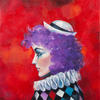 SERIES MASKS. RED MASK. 2009. Canvas, oil. 60х60 cm