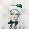 SERIES MASKS. WHITE MASK. 2009. Canvas, oil. 60х60 cm