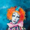 SERIES MASKS. TURQUOISE MASK. 2009. Canvas, oil. 60х60 cm