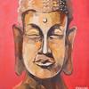 RED BUDDHA. 2009. Canvas, oil. 100х80 cm