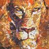 PORTRAIT OF A LION. 2010. Canvas, oil. 100х120 cm