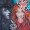 FREAKS. 2010. Canvas, oil. 100х100 cm