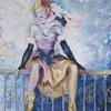 PORTRAIT OF A COURTESAN. 2009. Canvas, oil. 100х100 cm