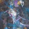 BLACK BIRDS. 1996. Canvas, oil. 80х100 cm