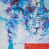 WOMEN AND CAT. 2010. Canvas, oil. 100х120 cm
