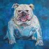 LORD BYRON. 2011. Canvas, oil. 100х100 cm