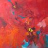 RED BIRD. 2008. Canvas, oil. 90х70 cm