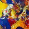 ABDUCTION OF VENUS. Canvas, oil. 105х65 cm