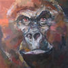 GORILLA. 2009. Canvas, oil. 100х100 cm