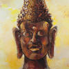 STONE BUDDHA. 2009. Canvas, oil. 120х100 cm