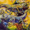 CHAMELEONS. 1997. Canvas, oil. 145х100 cm