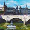 NATIONAL HERO OF FRANCE. 2009. Canvas, oil. 80х100 cm