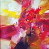 RED RHINO. 1998. Canvas, oil. 90х90 cm