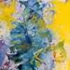 FERN'S LEAVES. 1998. Canvas, oil. 60х110 cm